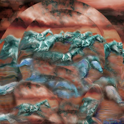 Abstract Gallop with Penny and Patina, 2016